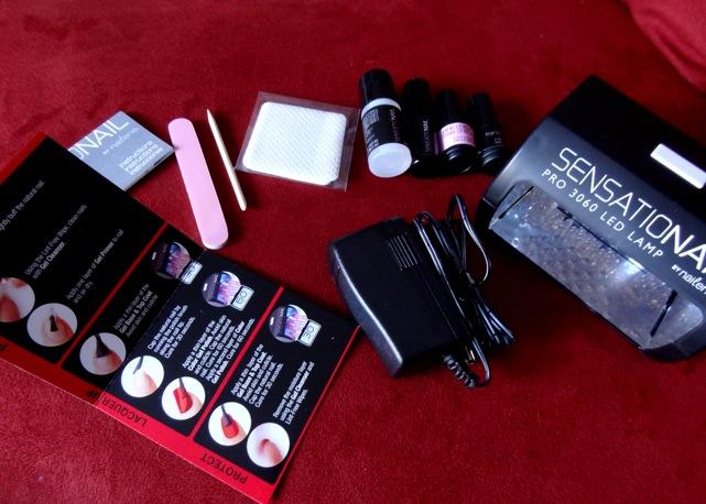 Sensationail gel polish starter kit (with uv light)